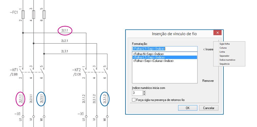 CADs Elétricos – Marcação dos fios parametrizada no Diagrama elétrico