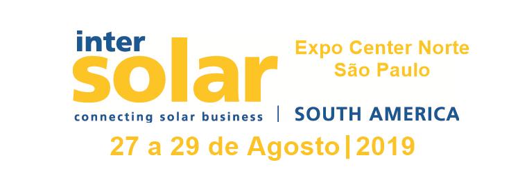 INTERSOLAR SOUTH AMERICA 2019 – Feira e conferência internacional na América do Sul para o setor de energia solar.