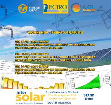 Workshops gratuito Intersolar stand K109