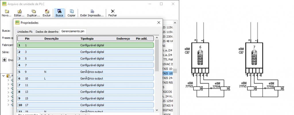 CADs elétricos – Conectores modulares e cartões do CLP com I/O definíveis