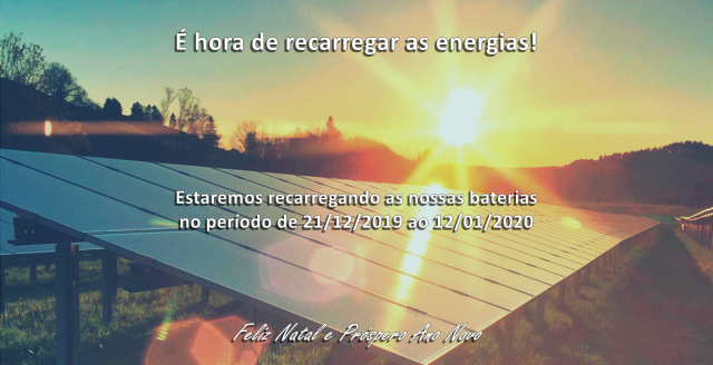 Recarregando as energias para 2020!