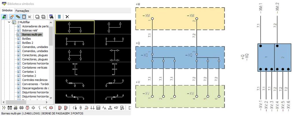 CADs elétricos – Bornes com múltiplas conexões