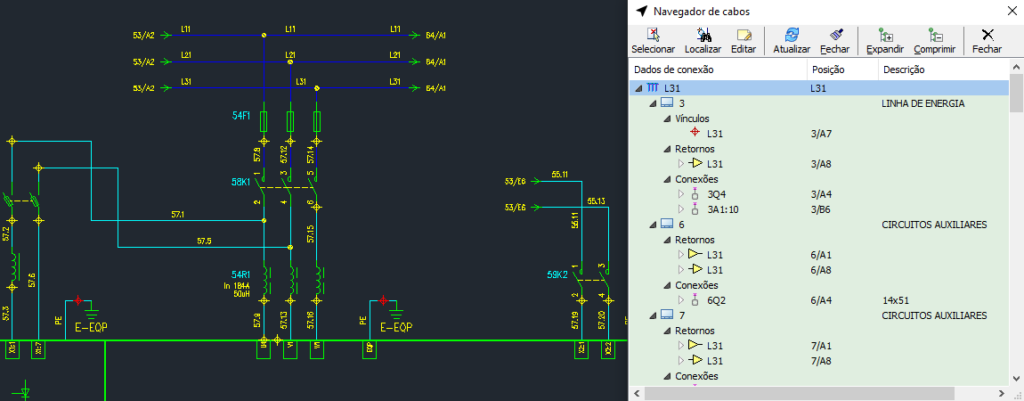 CADs elétricos – Análise dos fios no diagrama: novas funções e navegadores