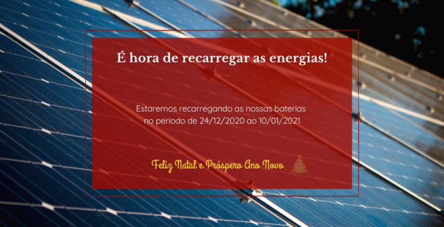 Recarregando as energias para 2021!