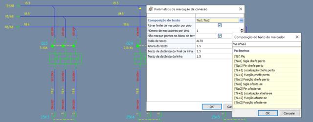 CADs elétricos – Marcadores dos fios no diagrama elétrico